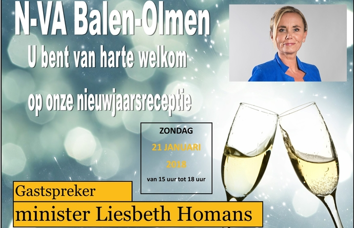 Nieuwjaarsreceptie 2018 met Liesbeth Homans